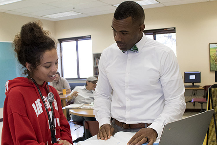 Tutoring coordinator helps student
