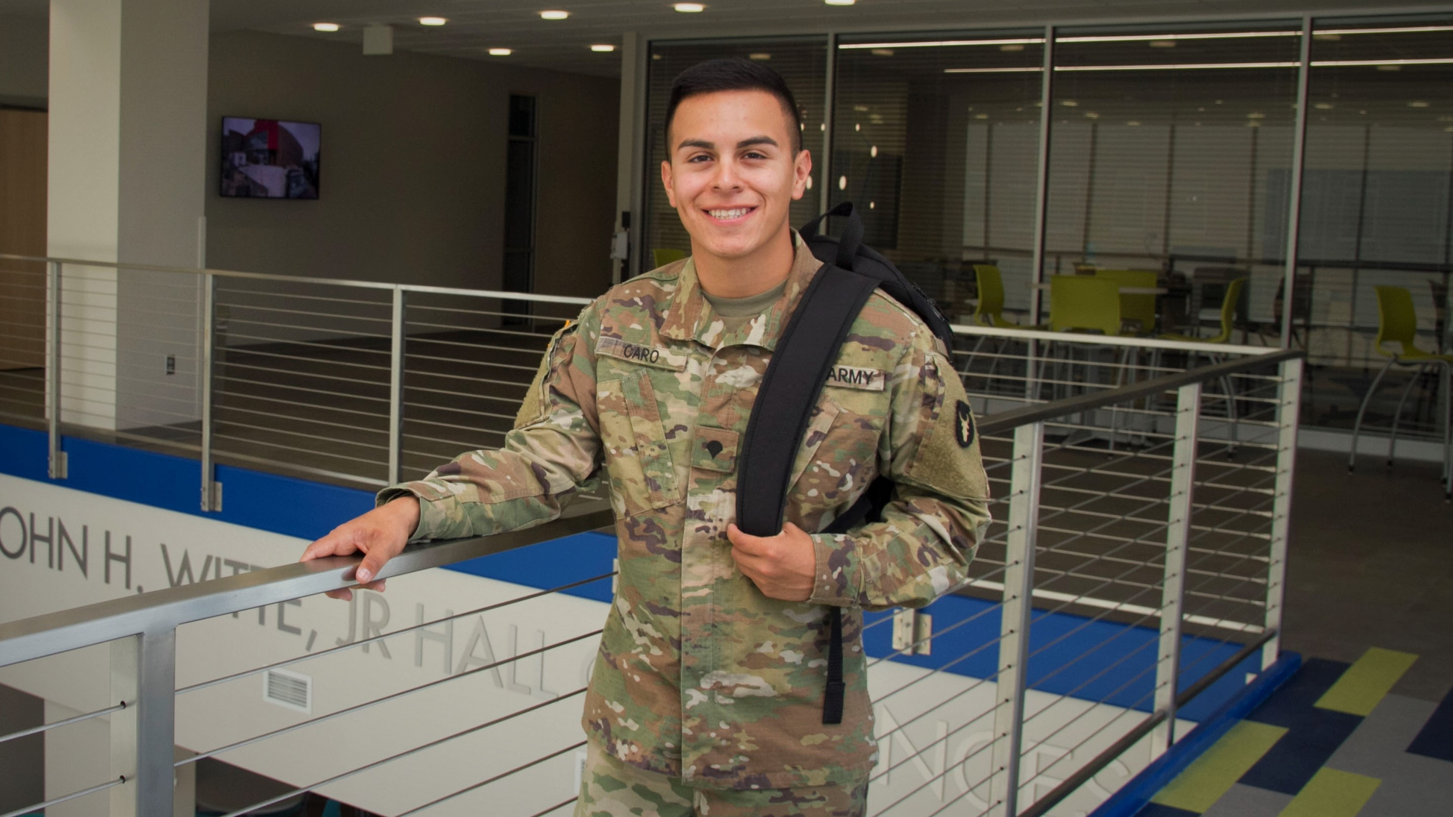 Male National Guard Student