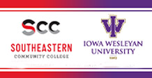 Iowa Wesleyan University and SCC Iowa logos