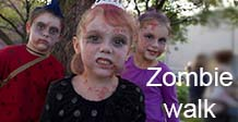 Children dressed as zombies